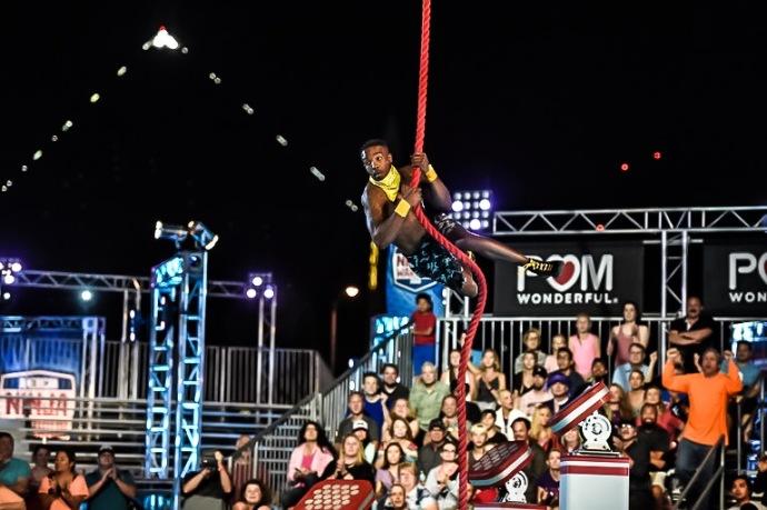 "AMERICAN NINJA WARRIOR -- ""Las Vegas Finals"" -- Pictured: Najee Richardson -- (Photo by: David Becker/NBC)"