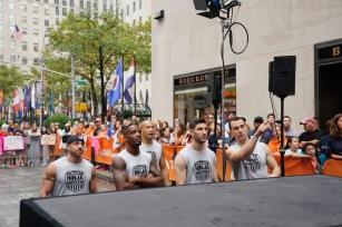 TODAY -- American Ninja Warrior on the Plaza -- Pictured: (l-r) Carl Fantauzzo, Najee Richardson, Jimmy Choi, Anthony DeFranco and Joseph Moravsky on Monday, July 24, 2017 -- (Photo by: Peter Kramer/NBC)