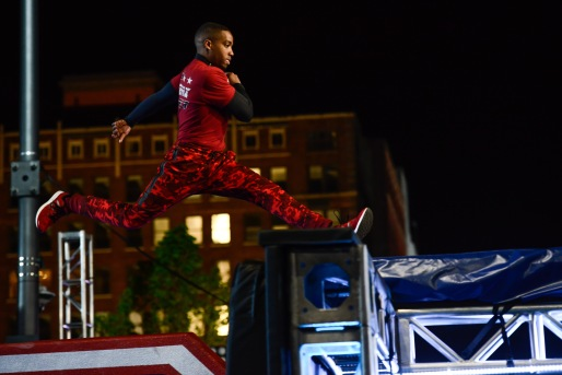"AMERICAN NINJA WARRIOR -- ""Cleveland Finals"" -- Pictured: Najee Richardson -- (Photo by: Duane Prokop/NBC)"