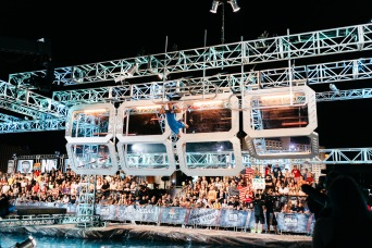 AMERICAN NINJA WARRIOR -- USA vs The World BTS -- Pictured: (l-r) -- (Photo By: Ryan Tuttle/NBC)